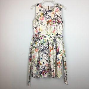 Closet Floral Lace Back Fit & Flare Dress. 14